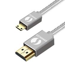 Câble Mini HDMI vers HDMI, haute vitesse, compatible avec HDMI 2.0a/b, 2.0, 1.4a (Ultra HD, 4K, 3D, Full HD, 1080p, HDR, ARC