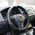 Upscale Crystal Crown Coverd Women car steering- wheel braid Luxurious Diamond PU leather steering wheel Cover diameter 38 Cm