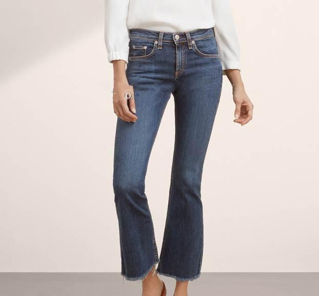 women flare jeans  skinny tassels flared truosers pants big stretch elastic high quality