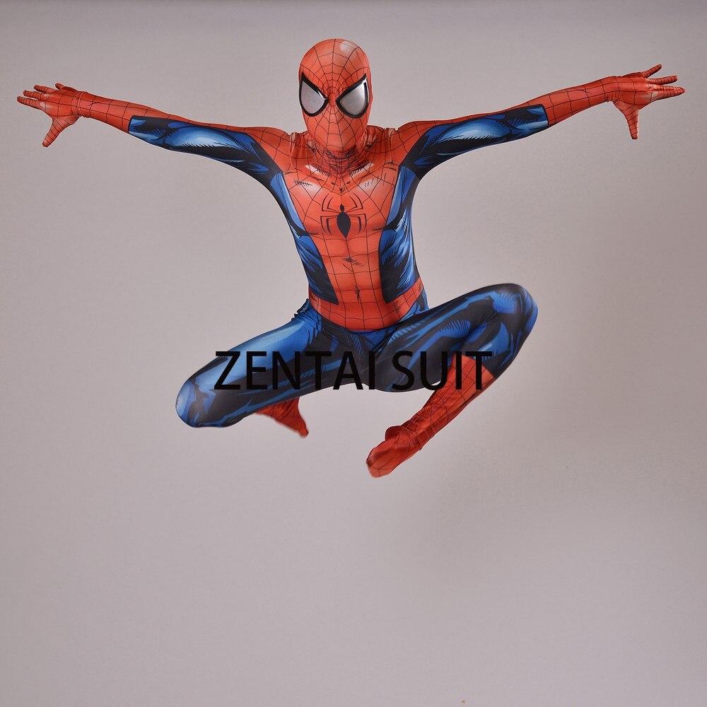 2016 Nuevo Último Traje de Spiderman Spandex Sombra 3D Traje de - Disfraces - foto 2