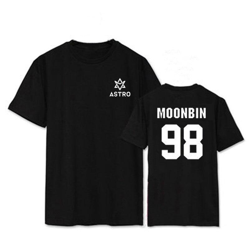 ONGSEONG Kpop ASTRO MJ ROCKY JINJIN Album Shirts K-POP Casual Baumwolle Kleidung T-shirt T Shirt Kurzarm Tops T-shirt DX398