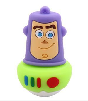 100% real capacity Cartoon Toy Story Buzz Lightyear usb flash drives pendrive 4GB-64GB USB Flash 2.0 Memory Drive Stick S337