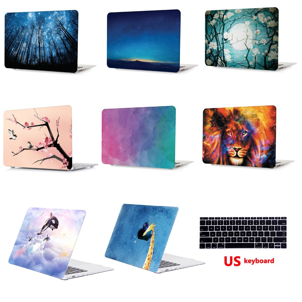 Tablet Shell Pouch Color Printing Laptop Shell Hard Case Cover Only For Apple Macbook Pro 13 quot with Touch Bar Model A1706 A1989 in Laptop Bags amp Cases from Computer amp Office
