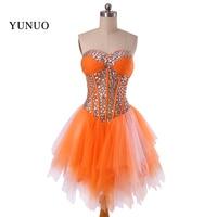 2016 Sweetheart Crystals Beading Mini Homecoming Dresses Elegant Party Dresses Sleeveless Real Costom Formal Dresse X11306