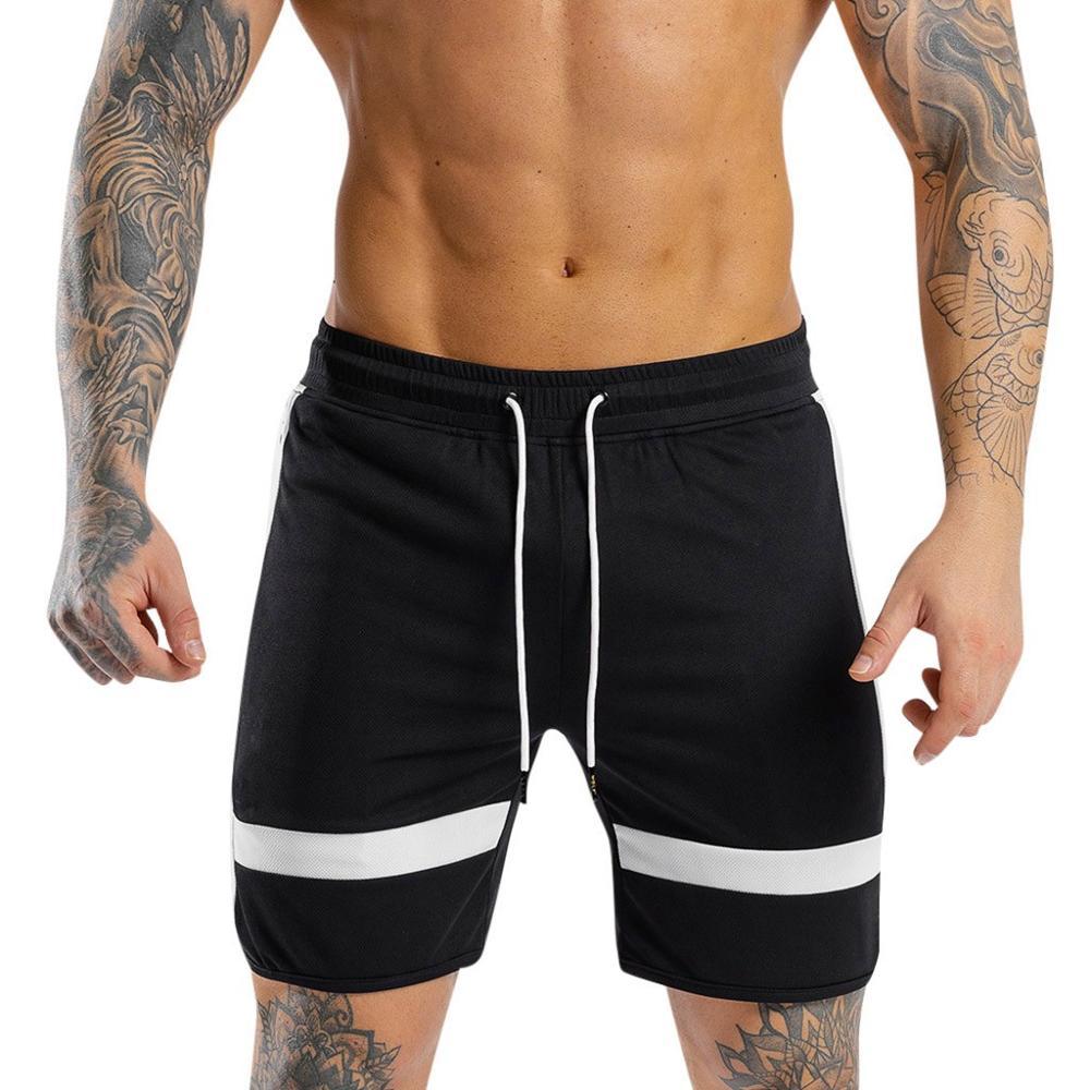 2019 Shorts Men's Summer Beach Sports Swimsuit Board Shorts Fashion Striped Cotton Boardshort Pantalon De Playa Dropshipping C