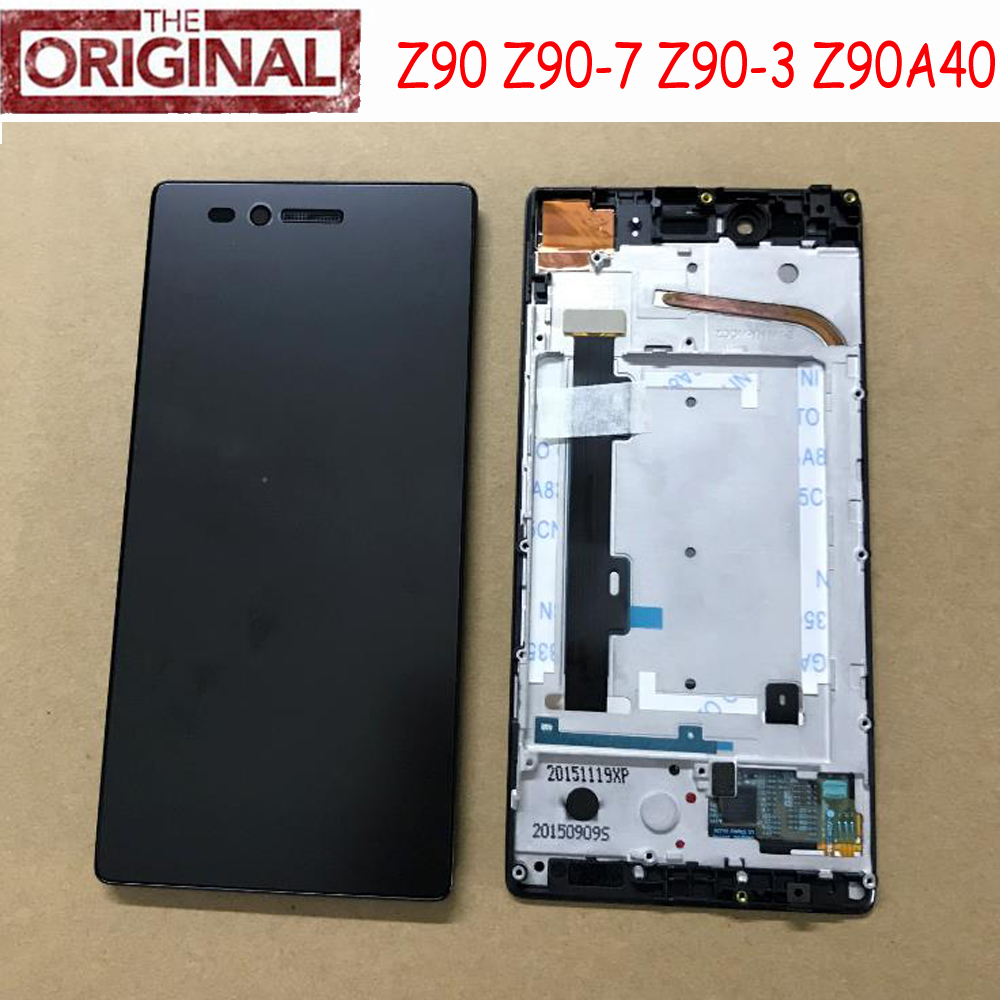 100% Original New Best Working Sensor LCD Display Touch Screen Digitzer Assembly+Frame For Lenovo VIBE Shot MAX Z90 Z90a40 Z90-7