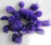 Free Shipping Small Fox Keychain For Mobile Fur Colors Natural Real Fox Fur