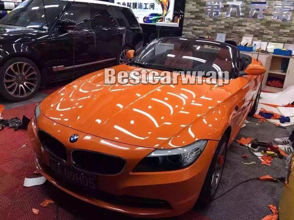 orange ultra gloss car vinyl wrap foil skin with 3 layers. Black Bedroom Furniture Sets. Home Design Ideas