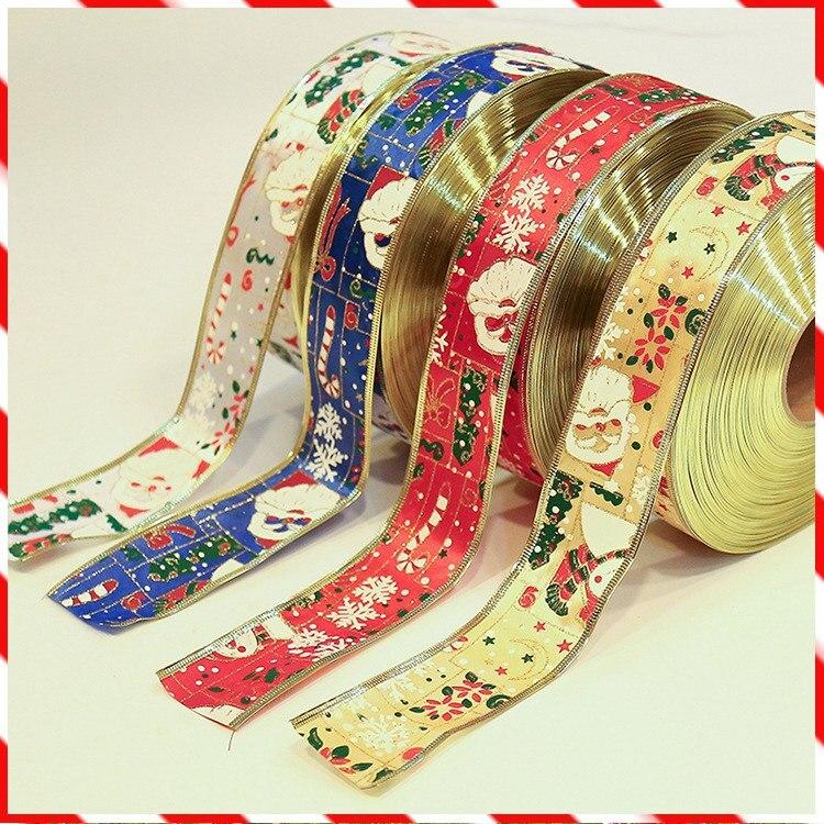 5 cm * 90 m long Ruban Imprimé Bonhomme De Neige avec Phnom Penh pour Cadeaux De Noël BRICOLAGE Artisanat Cadeau Emballage Ceinture à coudre Accessoires