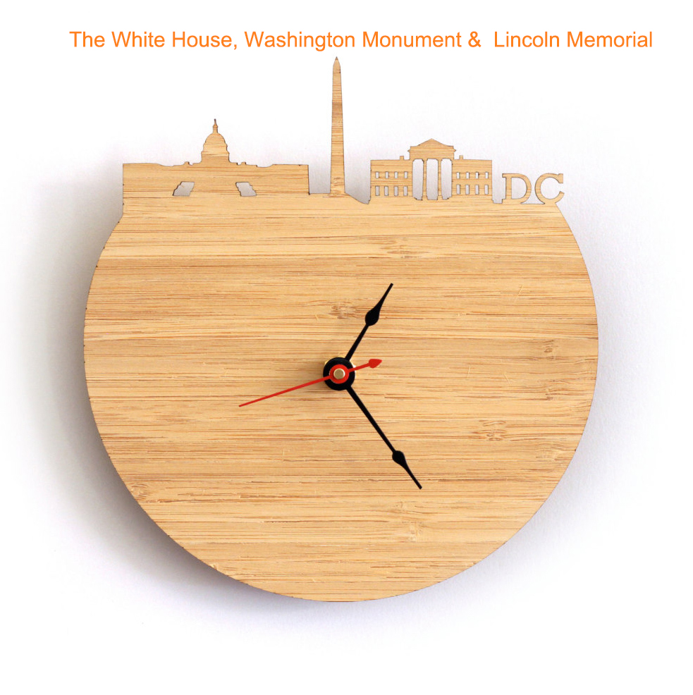 The Second Most Famous Clock In The World: World Famous Attractions Skyline Feature Wall Clock