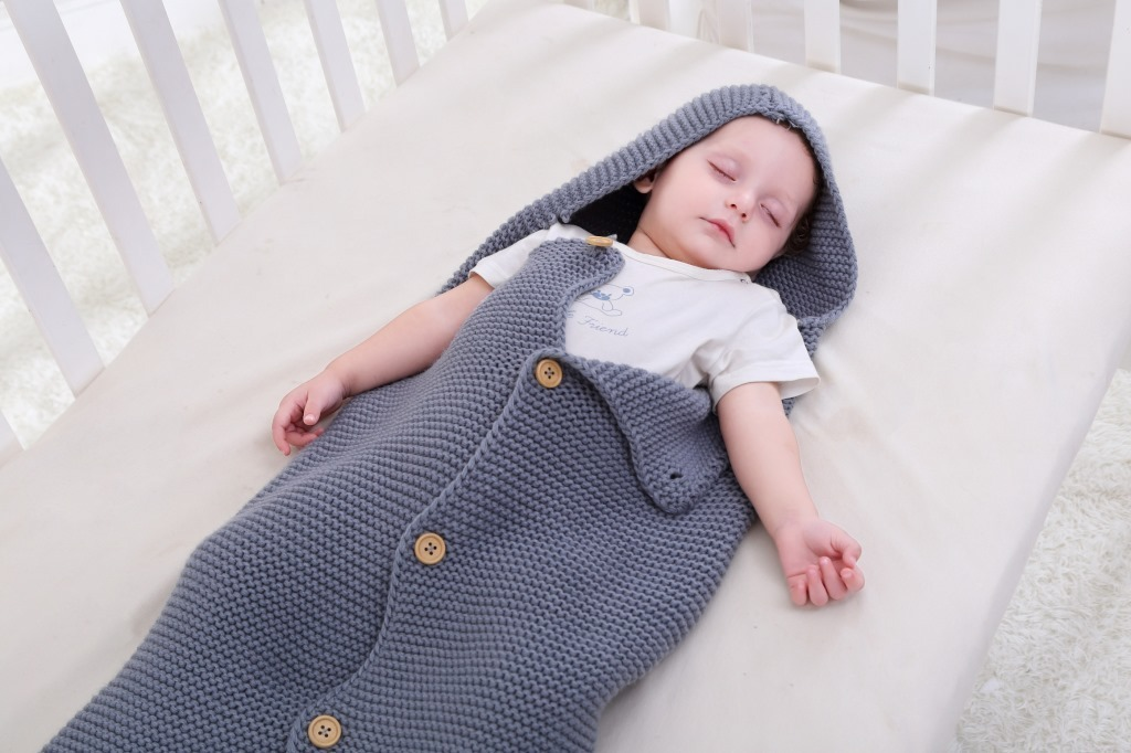 Newborn Baby Knitted Sleeping Bag Blanket Cute Kids Warm Wrap AutumnWear Blanket Wrapped For Baby Cute#