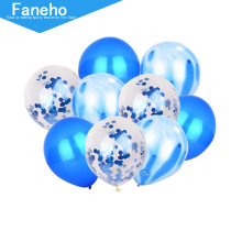 9pc/set Confetti Balloons Transparent Latex with Gold Silver for Wedding Party Birthday Decorations