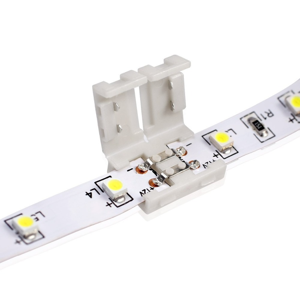LMID 2Pin 10MM 5050 LED Strip Connector for Single Color SMD5050 SMD3528 LED Strip 8MM 2pin No Solder Free Welding Connector dc connector to 2pin 8mm 10mm connector with switch for single color led strip