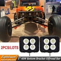 2PCS 5Inch 40W 10W Led Offroad Light Bar For OFF ROAD 4x4 4WD SPOT FLOOD BEAM