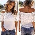 snowshine #3065 Sexy Women Off Shoulder Casual Tops Lace Crochet Chiffon Shirt L FREE SHIPPING