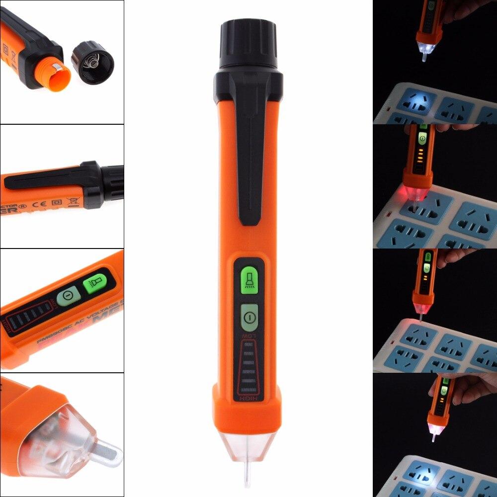 PEAKMETER PM8908C Бесконтактный Напряжение тестер 50-60 Гц AC 12-1000 В ручка цепи детектор электрического инструмента с работой света