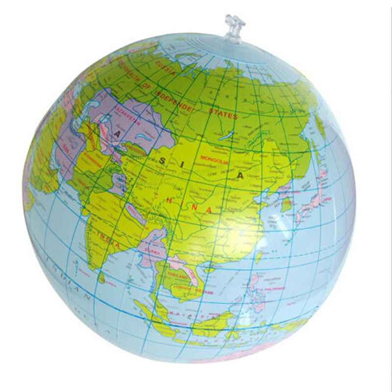 Toy Map Ball Globe Geography Learning World-Earth-Ocean Educational Inflatable Kids 30cm