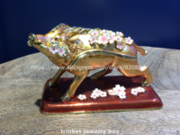 New Fortune Pig Cosmetic Box Jewelry Trinket Gift Storage Box Accessories Box Ornaments Box New Metal Home Display