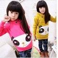 ¡ Venta caliente! 2013 Envío gratis Lindo ropa Para Niños Otoño Niñas Lentejuelas Oso de Manga Larga Chicas Sudaderas Con Capucha Sudaderas LQ197