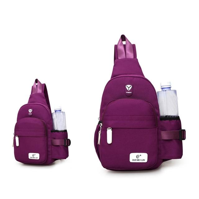 Nova Chegada Nylon Unisex Pacote Peito bolsa de Ombro Único Cinta de Volta Saco Crossbody Sacos para As Mulheres Ombro Sling Saco Saco de Viagem de Volta pack