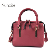 Kunzite Fashion Women's PU Leather Handbags High Quality Famous Brand Boston Shoulder Bags Designer Small New Messenger Bags Sac