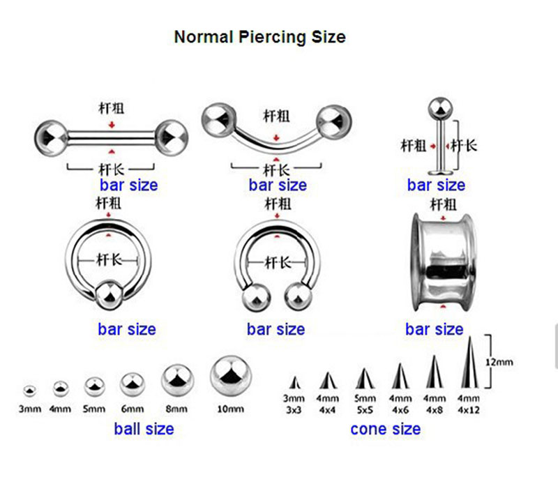 Jinse 100pcs Body Piercing 316l Surgical Steel 16 Gauge Eyebrow Ring