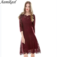 Aamikas Autumn Womens Elegant Sexy Lace See Through Tunic Casual Club Bridesmaid Mother Of Bride Dress