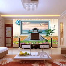 Pleasant Maldives Landscape Wallpaper Large Mural Bedroom Sofa TV Background Wall Paper Mural Living Room Wallpaper HD painting цена 2017