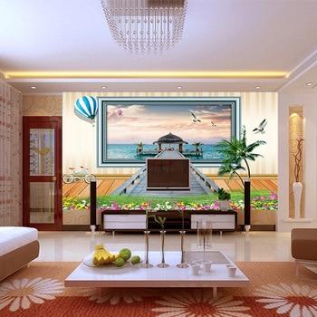 цена на Pleasant Maldives Landscape Wallpaper Large Mural Bedroom Sofa TV Background Wall Paper Mural Living Room Wallpaper HD painting