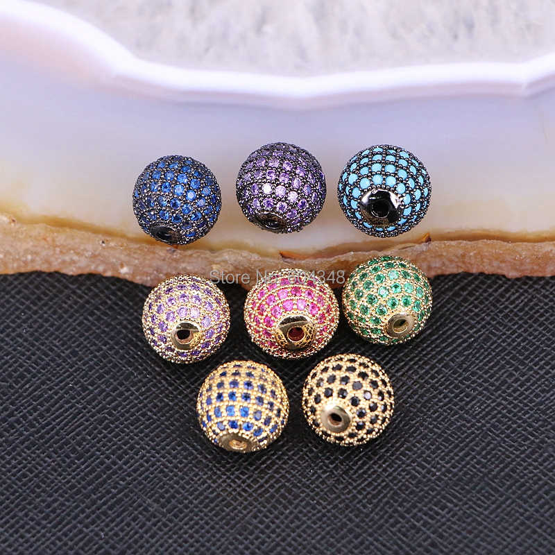 10pcs Metal Copper Micro Pave CZ Sun Flower connector Beads,Cubic Zirconia Flower beads For Jewelry Making