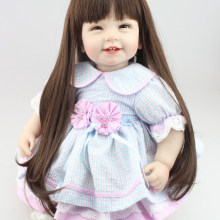 NPK Reborn Baby Doll with long hair Realistic Soft silicone Reborn Bab