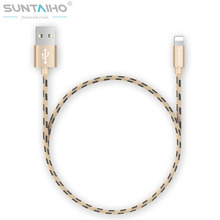 Suntaiho Nylon Lighting USB Cable Fast Charging Mobile Phone Cable 0.5m/1.2m/2m/3m USB Data Cables for iPhone 7 6 5