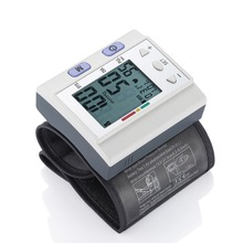 New Arrival Home Health Care Automatic LCD Digital Wrist Blood Pressure Monitor Heart Rate Beat Pulse Meter Measure Tools