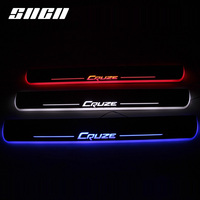 SNCN Trim Pedal LED Car Light Door Sill Scuff Plate Pathway Dynamic Streamer Welcome Lamp For Chevrolet Chevy Cruze 2015 2018