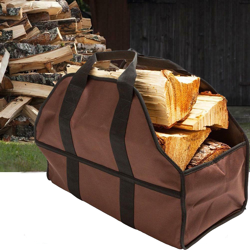 Outdoor Fireplace Firewood Storage Bag Oxford Firewood Log Carrier Wood Tote Bag Portable Indoor for fire pit  Beach Groceries|Fire Pits| |  - title=