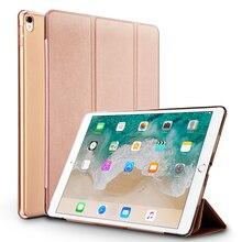 Jisoncase Cubierta Elegante de Cuero para iPad Pro 10.5 pulgadas 2017 Cubierta de la Caja PU Delgada de Coque Funda Tapa Elegante de la Caja para el Nuevo ipad Pro 10.5