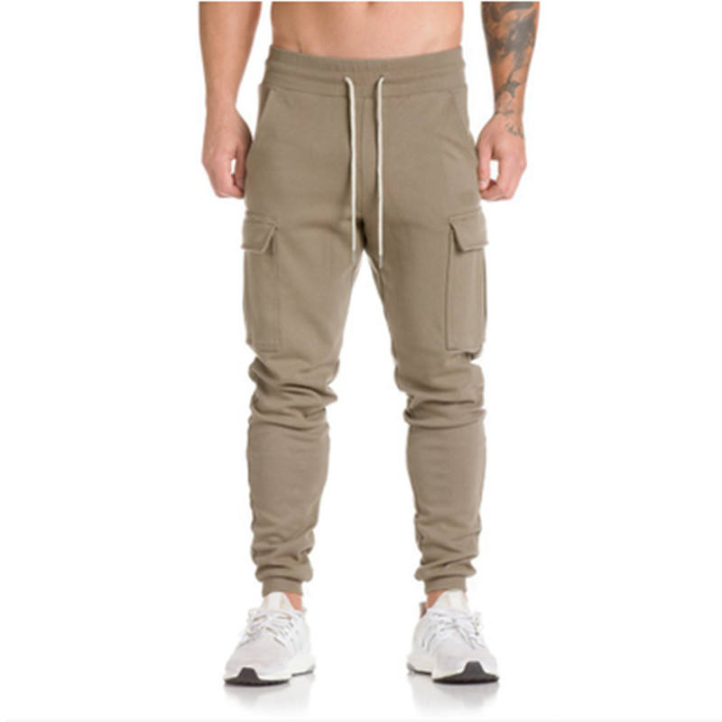 LEFT ROM 2018 fashion men leisure Pure color+camouflage trousers /male slim fit Pure cotton comfortable movement trousers M-3XL