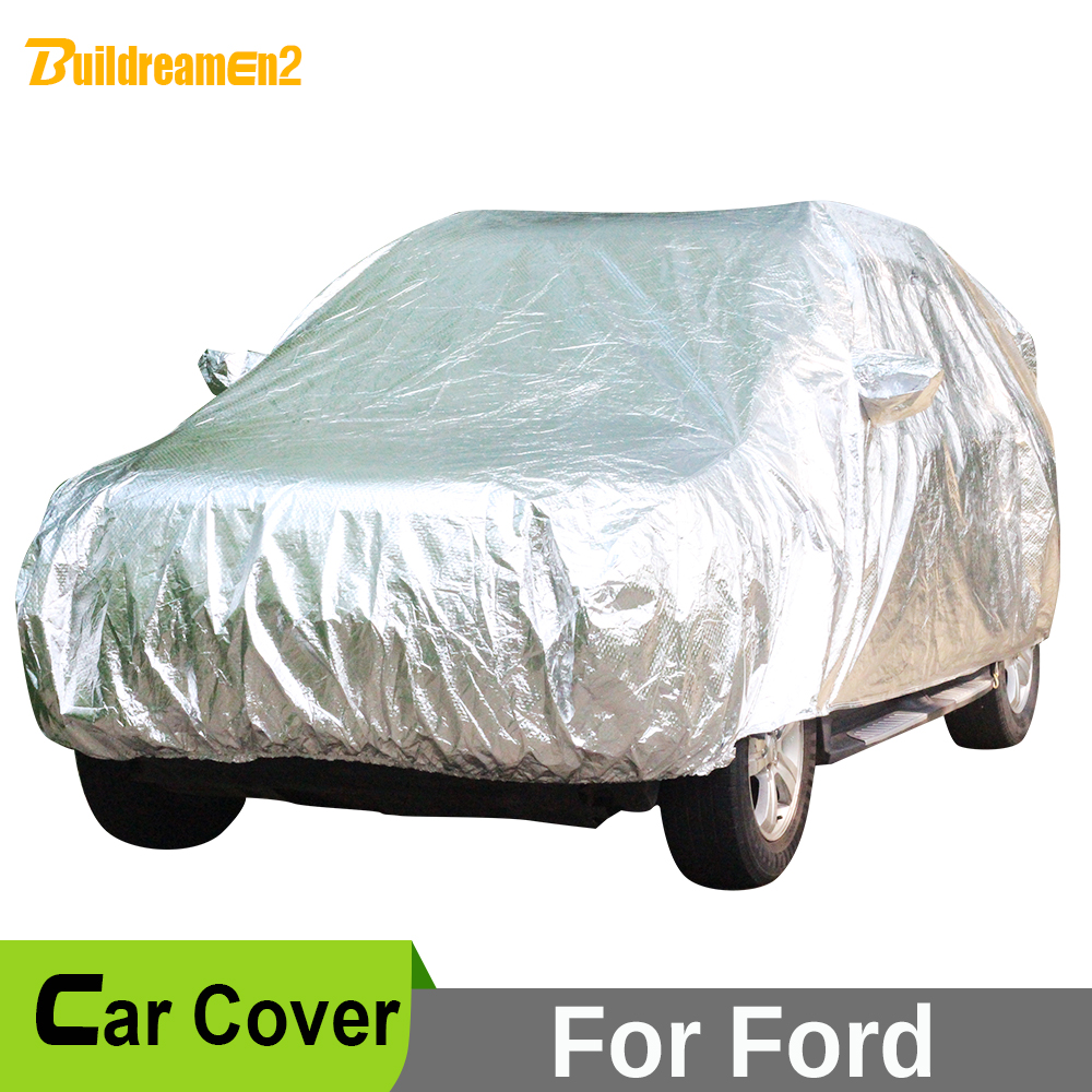 Buildreamen2 Car Cover SUV Anti-UV Sun Snow Rain Hail Protection Waterproof Car Covers For Ford Everest Expedition Edge Explorer buildreamen2 car cover waterproof suv anti uv sun shield snow hail rain dust protective cover for gmc terrain acadia envoy yukon