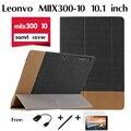 Для Lenovo miix300-10 кобура чехол tablet PC 10.1 дюймов поддержка Miix 300 10 Фолио Премиум PU Кожаный Стенд Смарт Защищает крышка