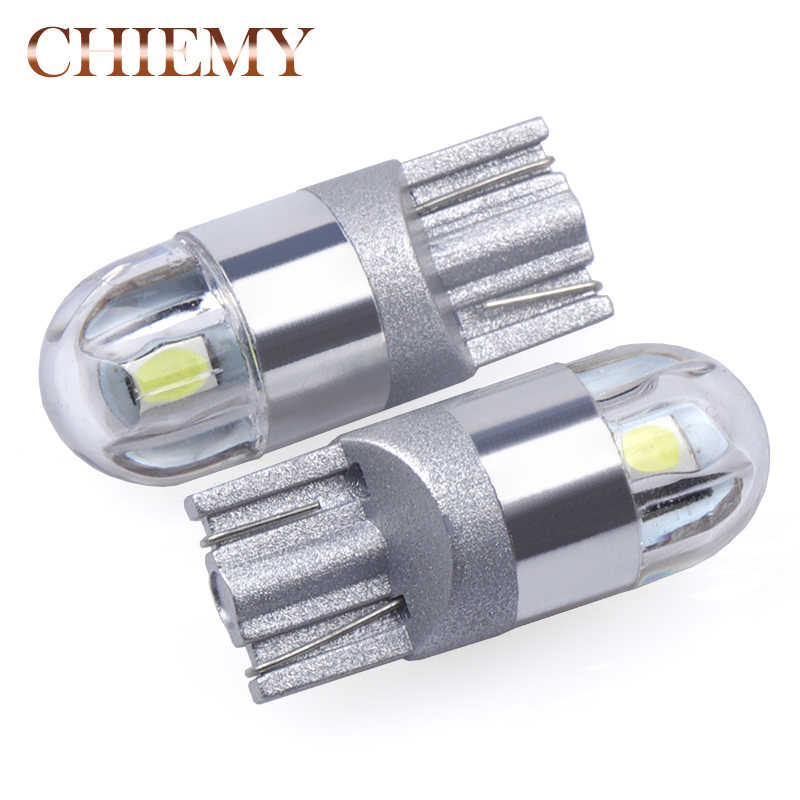 2Pcs T10 W5W LED Car Light 3030 SMD Marker Lamp WY5W 192 501 Tail Side Bulb Wedge Parking Dome Light Canbus Auto Styling DC 12V