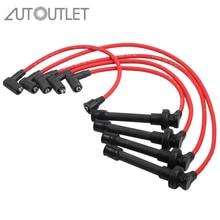цена на AUTOUTLET 5 Pcs Spark Plug Wires Fit For Acura CL L4 2.2L for Honda Accord Spark Plug Wire Set L4 2.3L