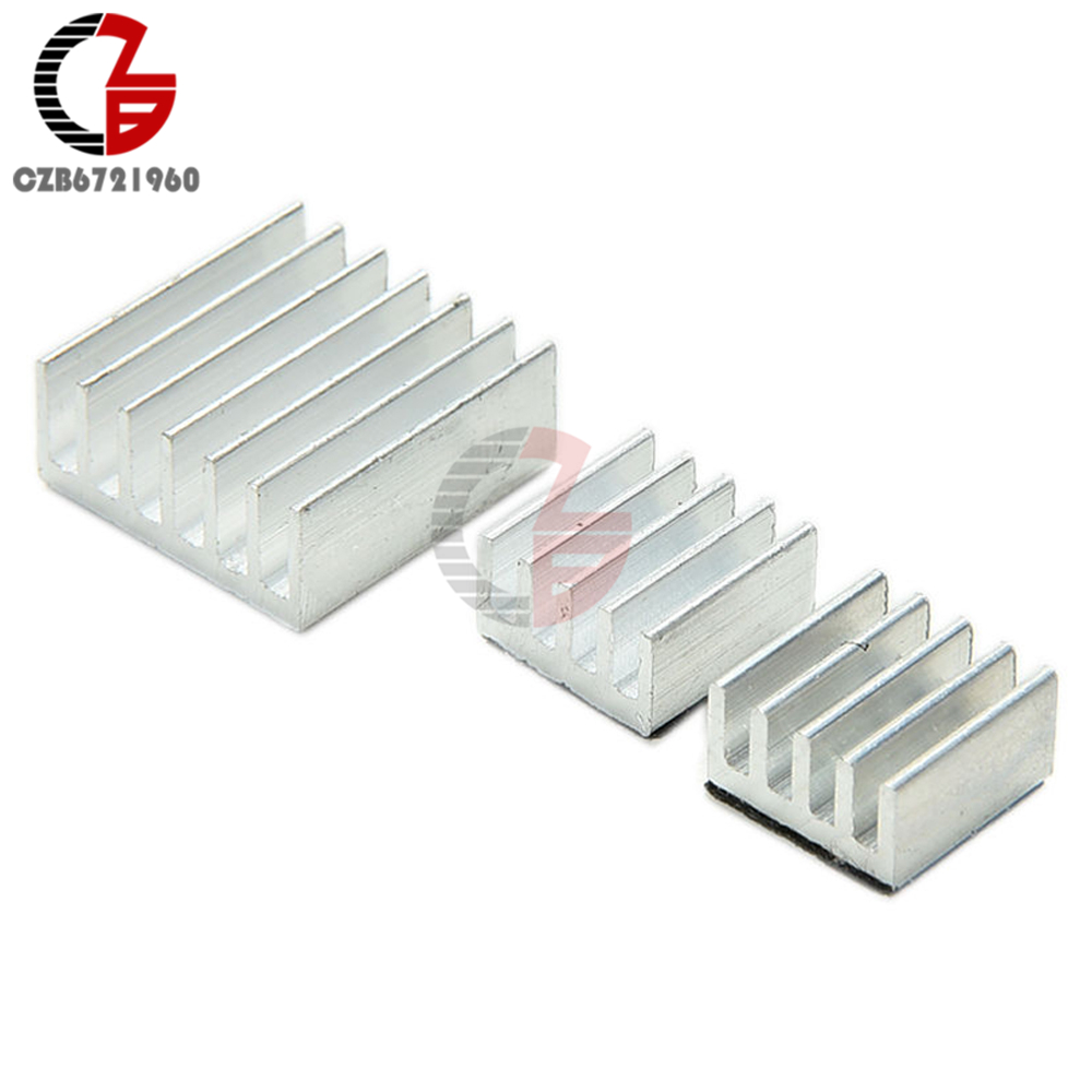 One Set of 3pcs Adhesive Aluminum Heatsink Kit for Raspberry PI