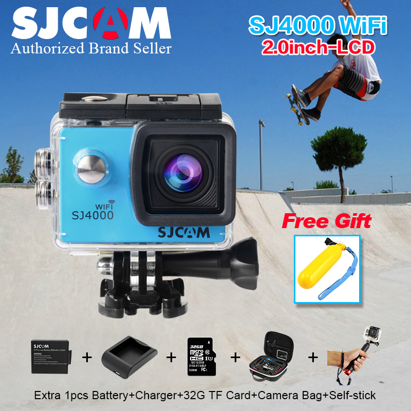 Original SJCAM SJ 4000 WIFI 2.0 Sport Action Camera 1080P Full HD Waterproof Camcorders Helmet Action gopro Sport camera sj 4000 high power pure copper heatsink 150x80x20mm skiving fin heat sink radiator for electronic chip led cooling cooler