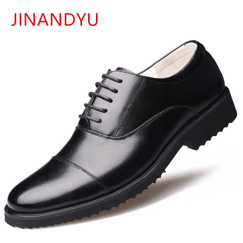 Men's Brand Genuine Leather Shoes Men Formal Dress shoes Military Business Mens Wedding Shoe Classic party Office Shoes Men