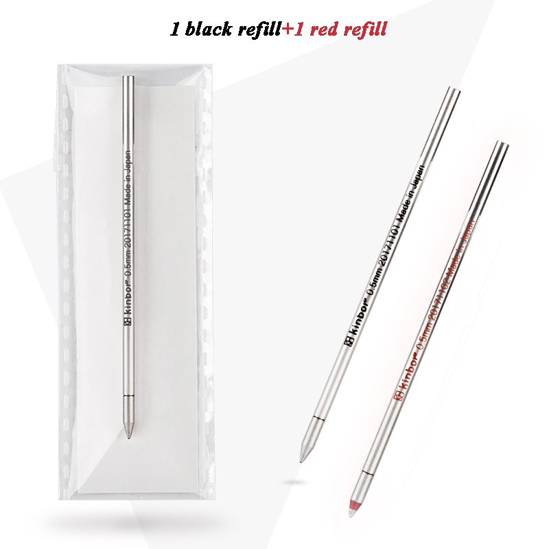 2pcs/lot Black and Red Ink <font><b>Ballpoint</b></font> <font><b>Refill</b></font> for Kinbor 3-Way Multifunction <font><b>Pen</b></font> Barrel <font><b>0.5mm</b></font> <font><b>Refill</b></font> School and Office Stationery image