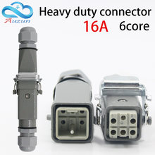 Heavy-duty connector 6 (5 + 1) 16A 500V HA-004-6 is Connect the cold pressure heat channel flow