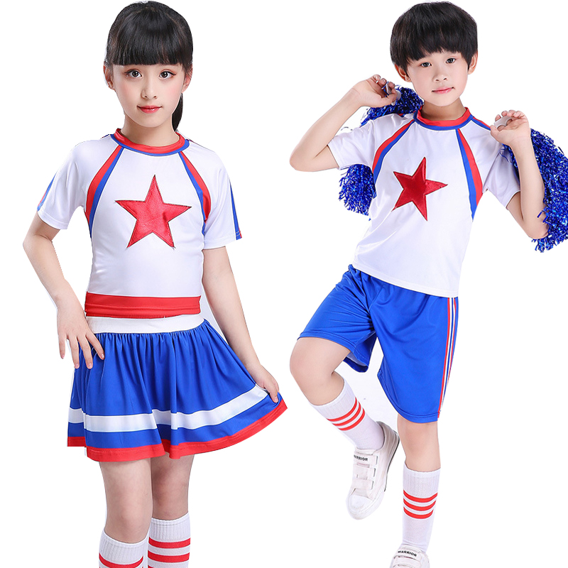boys girls dance costume cheerleader costume modern Basketball football suit costumes for kid short sleeve boy girls clothes set