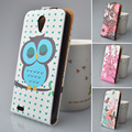 hot sale high quality  flip leather case For lenovo S650 cover printed 5 colors