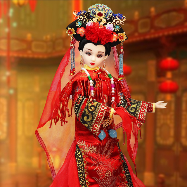 Joint Body BJD East Charm Qing dynasty Bride With Wedding Dress, Stand & Box 35cm Bride F&D toys Special design
