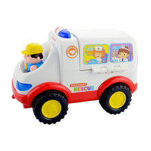 lps Toy Car Learning Education Ambulance Toy for kids Children pretend play Doctor Medical Themed Montessori Toy Christmas Gift(China)
